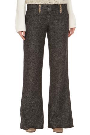Расклешенные брюки с карманами Just Cavalli. Цвет: черный, серый, крапинка