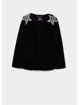Пальто - ESTRELLA Violeta by Mango. Цвет: черный