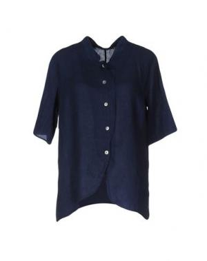 Pубашка LA FABBRICA del LINO. Цвет: темно-синий