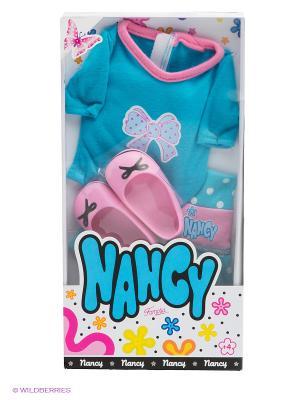 Комплект одежды для куклы Famosa. Цвет: голубой, розовый