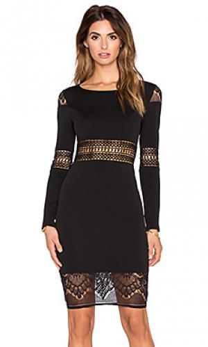 Платье с длинным рукавом winter romance RISE OF DAWN. Цвет: черный