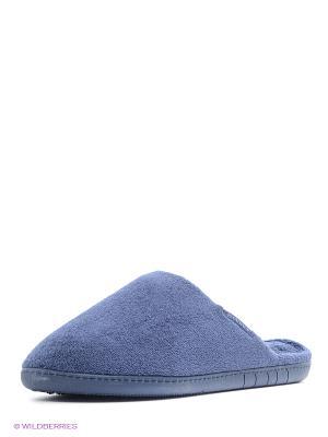 Тапочки Isotoner. Цвет: серо-голубой