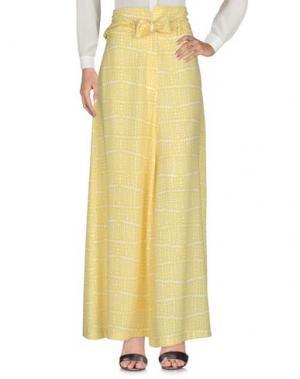 Повседневные брюки LOLA MAY. Цвет: желтый