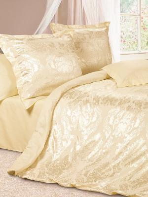 Комплект постельного белья Герцогиня ECOTEX. Цвет: светло-желтый