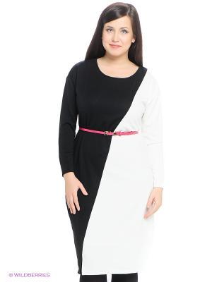 Платье LE MONIQUE. Цвет: черный, белый