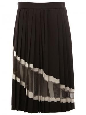 Плиссированная юбка Maison Margiela. Цвет: чёрный