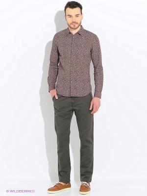 Рубашка Sisley. Цвет: черный, коричневый