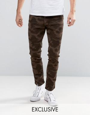 Brooklyn Supply Co. Серые камуфляжные джинсы скинни Co. Цвет: серый