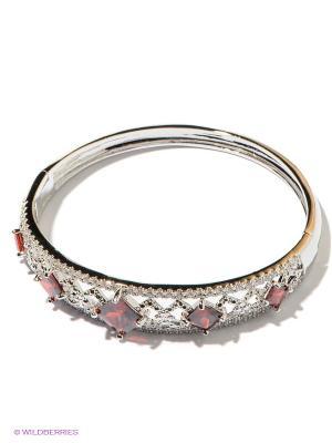 Браслет Lovely Jewelry. Цвет: серебристый, красный