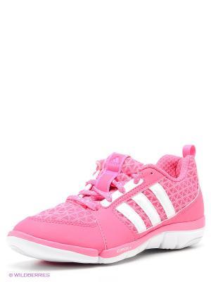 Кроссовки MARDEA Adidas. Цвет: розовый, белый