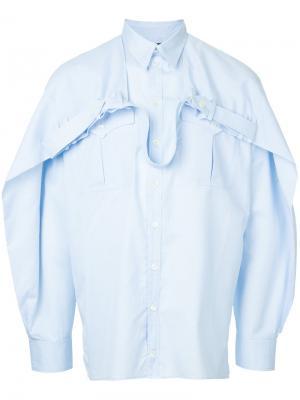 Рубашка с поясом Y / Project. Цвет: синий