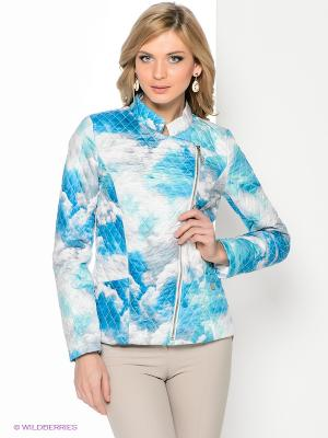 Жакет Remix. Цвет: голубой, белый