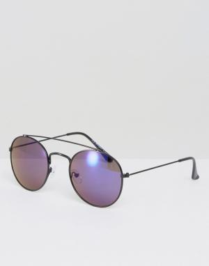 AJ Morgan Солнцезащитные очки-авиаторы. Цвет: черный