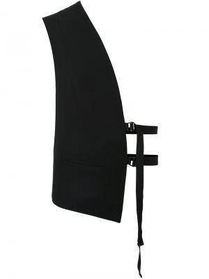 Укороченный жилет Isabel Benenato. Цвет: чёрный