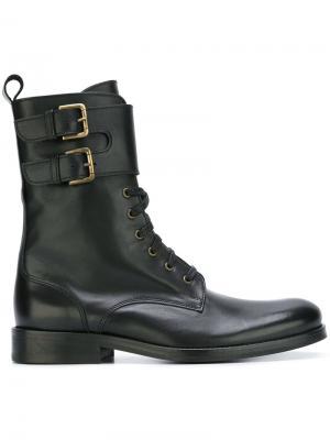 Ботинки с ремешками Cotélac. Цвет: чёрный