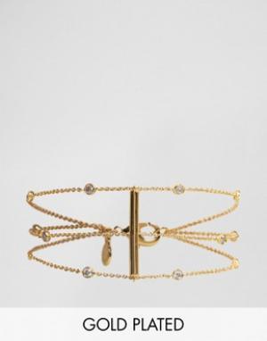 Gorjana Позолоченный браслет. Цвет: золотой