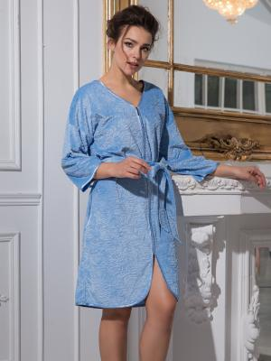 Халат MIA-DIVA. Цвет: голубой