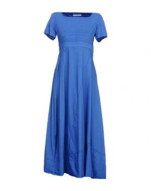 Длинное платье OBLIQUE CREATIONS. Цвет: ярко-синий