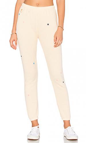 Спортивные брюки с вышивкой starlet Wildfox Couture. Цвет: желтый
