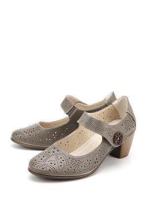 Туфли LETMI. Цвет: серый