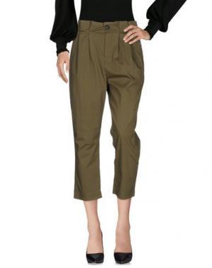 Повседневные брюки SONIA DE NISCO. Цвет: зеленый-милитари