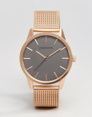UNKNOWN Классические часы 39 мм цвета розового золота. Цвет: золотой