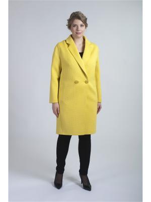 Пальто неоприл MODiCO. Цвет: светло-желтый