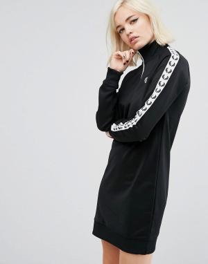 Fred Perry Спортивное платье в стиле ретро. Цвет: черный