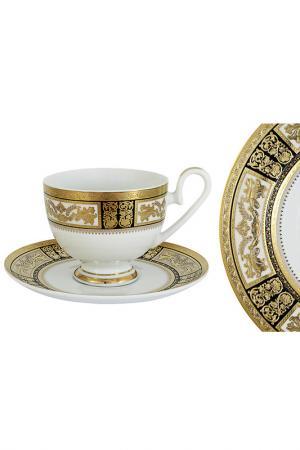 Чашка с блюдцем Елизавета Midori. Цвет: мультицвет
