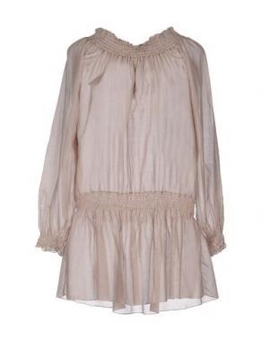 Короткое платье NIOI. Цвет: голубиный серый