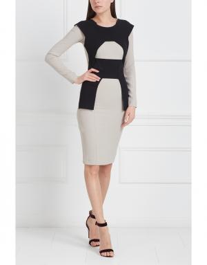 Платье с контрастными элементами Roland Mouret. Цвет: кремовый, черный