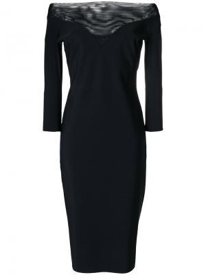 Платье с открытыми плечами Chiara Boni La Petite Robe. Цвет: чёрный