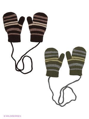 Варежки FOMAS. Цвет: хаки, серый, коричневый, кремовый