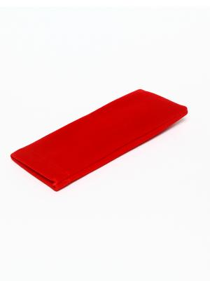 Футляр для очков мягкий Fabia Monti текстильный узкий PROFFI. Цвет: бордовый