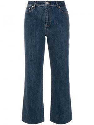 Укороченные брюки клеш A.P.C.. Цвет: синий