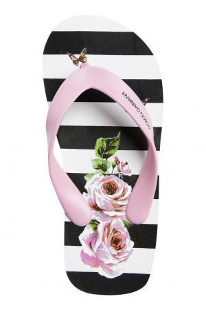 Шлепанцы с принтом в полоску Dolce&Gabbana Children. Цвет: multicolor