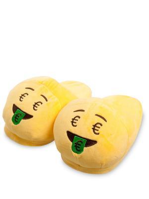 Тапочки Смайлик Деньги Lovely Joy. Цвет: желтый