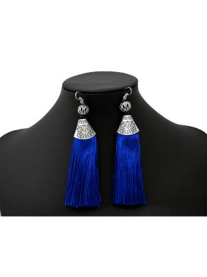 Серьги Miss Bijou. Цвет: синий,серебристый