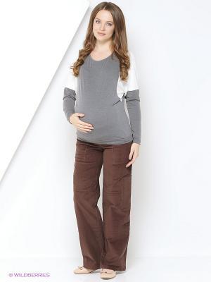 Блуза Mamita. Цвет: светло-серый
