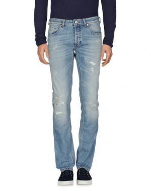 Джинсовые брюки MAURO GRIFONI. Цвет: синий