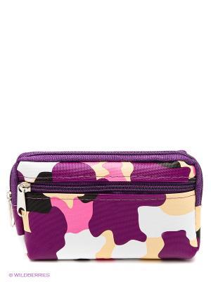 Кошелек Migura. Цвет: фиолетовый, розовый, белый
