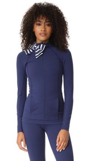 Куртка x Kate Spade New York в морскую полоску с бантом на горловине Beyond Yoga. Цвет: темно-синий