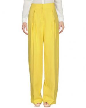 Повседневные брюки STEFANEL. Цвет: кислотно-зеленый