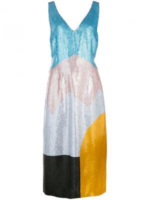 Платье дизайна колор-блок Novis. Цвет: многоцветный