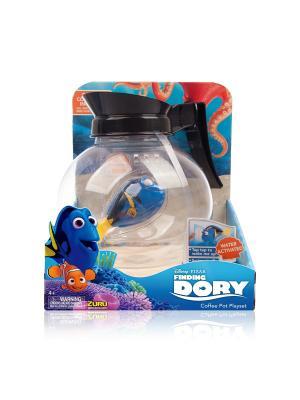 Интерактивная игрушка роборыбка-Дори и аквариум-кофейник ZURU. Цвет: синий, желтый, прозрачный, черный