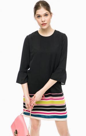 Короткое платье с длинными рукавами Pepe Jeans. Цвет: черный