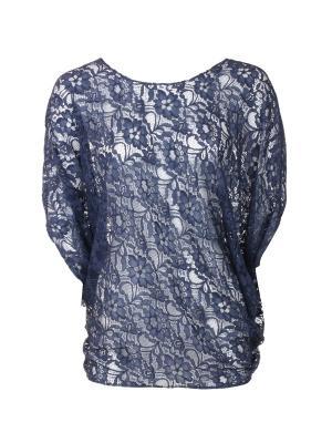 Блузка UONA. Цвет: синий
