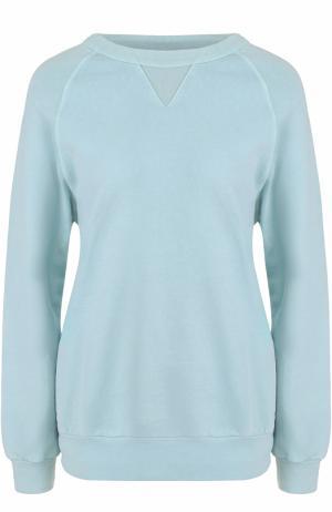 Пуловер свободного кроя с круглым вырезом Dries Van Noten. Цвет: голубой
