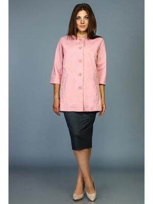Жакет Стиль Fashion Lux. Цвет: бледно-розовый, сиреневый