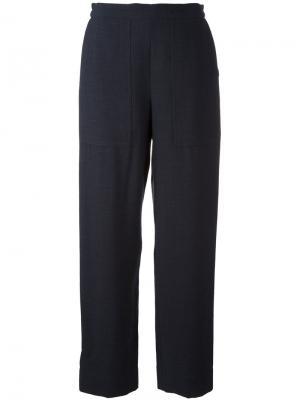 Зауженные брюки Lemaire. Цвет: синий